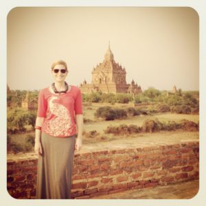 Shelley Coar in Bagan, Myanmar